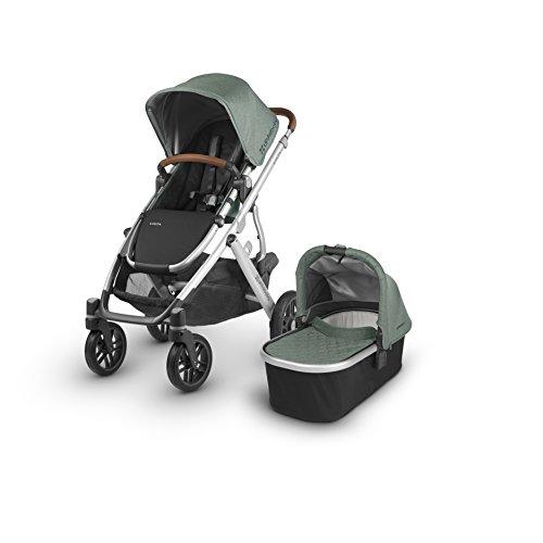 2018 UPPAbaby Vista Stroller - Emmett (Green Melange/Silver/Saddle Leather)