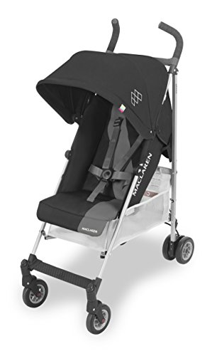 Maclaren Triumph Stroller- Lightweight, sporty, carries up to 55lb. Extendable UPF50+/ waterproof hood, reclining washable padded seat, 4-wheel suspension. Raincover included