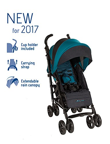 Jane Lightweight and Compact 2017 Nanuq Stroller with Carry Strap and Long Canopy (Teal)