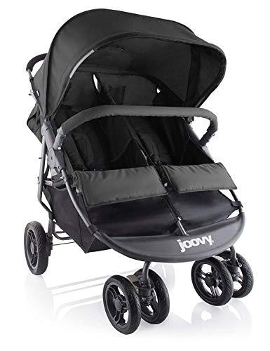 Joovy Scooter X2 Double Stroller, Side by Side Stroller, Stroller for Twins, Large Storage Basket, Black