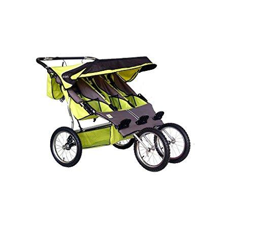 BeBeLove USA Green Triple Jogging Stroller