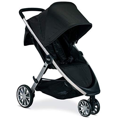 Britax B-Lively Lightweight Stroller - Up to 55 pounds - Car Seat Compatible - UV 50Plus Canopy - Easy Fold, Raven