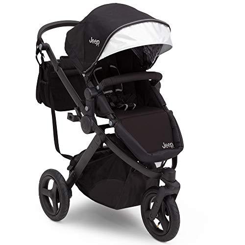 Jogging Stroller | All Terrain Baby Jogger | Sport Utility | JPMA Safety Certified | J is for Jeep Brand | Black on Black Frame