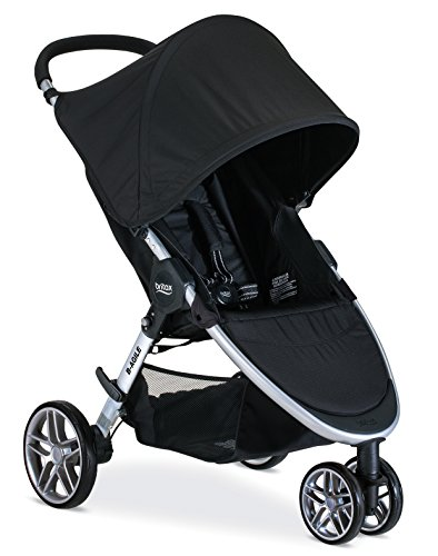 Britax B-Agile Lightweight Stroller, Black | One Hand Fold + Easy to Maneuver + Large UV50+ Canopy
