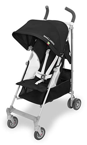 Maclaren Globetrotter Stroller- Lightweight, compact and easy to maneuver. Extendable UPF 50+/ waterproof hood, reclining seat and includes Raincover in the box.  Perfect for travel!