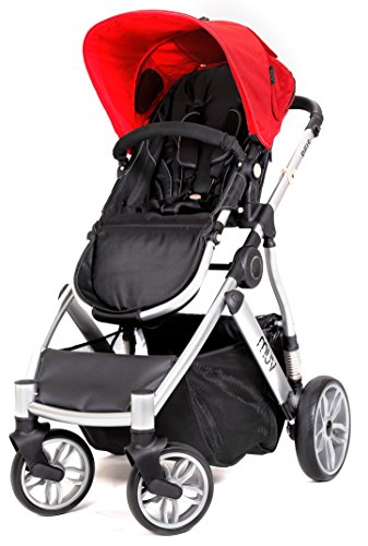 Muv Baby Trend Reis Stroller, Artic Silver/Cabernet
