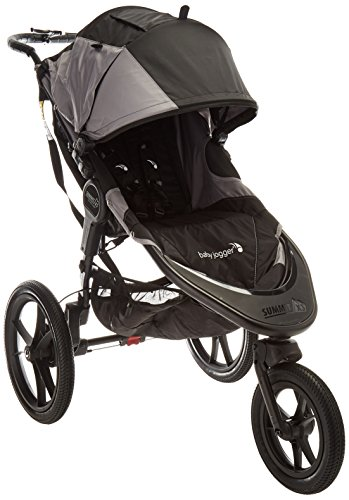 Baby Jogger Summit X3 Jogging Stroller - 2016   Air-Filled Rubber Tires   All-Wheel Suspension   Quick Fold Jogging Stroller, Black/Gray