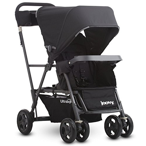 Joovy Caboose Ultralight Graphite Stroller, Sit and Stand, Tandem Stroller, Black