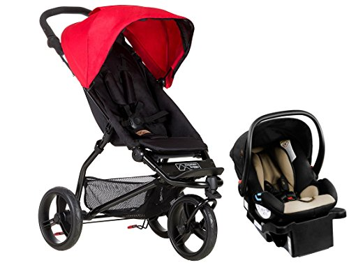 Mountain Buggy Mini Lightweight Travel System, Berry