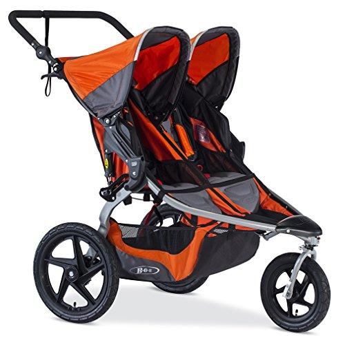 BOB Revolution Flex Duallie 2.0 Jogging Stroller - Up to 100 pounds - UPF 50Plus canopy - Adjustable Handlebar, Canyon