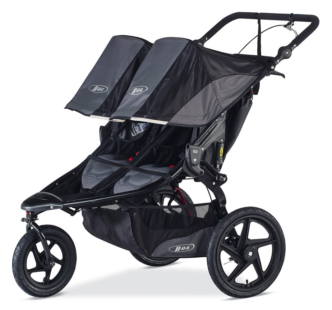 BOB 2016 Revolution Pro Duallie - 5 Safest Double Strollers For Premature Infants (PREEMIES) And Toddlers 2016