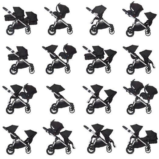 Baby Jogger City Select with Second Seat review-BEST 5 DOUBLE STROLLERS WITH OPTIONAL BASSINETS IN 2016