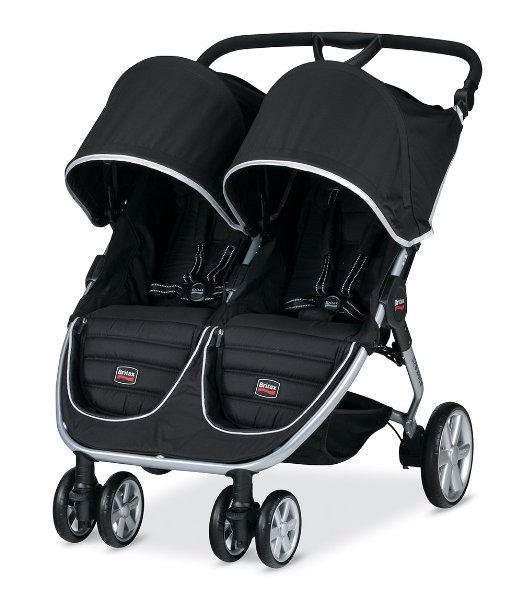 Britax B-Agile Double Stroller Black - Best 5 Baby Double Strollers For Twins With Car Seat 2016