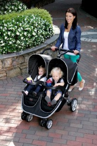 Britax B-Agile Double Stroller Black - Best Baby Double Strollers For Twins With Car Seat