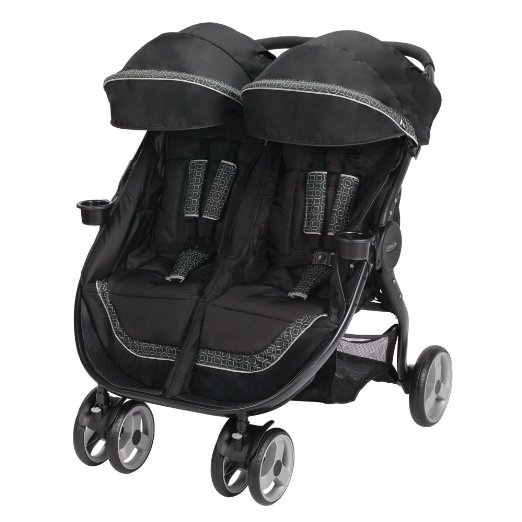 Graco Fast Action Fold Duo LX Click Connect Stroller - best 5 double strollers for twins with car seats