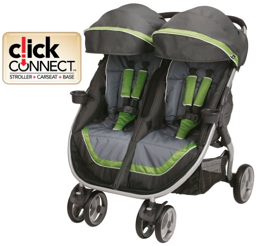 Graco FastAction Fold Duo Click Connect Stroller-5 Safest Double Strollers For Premature Infants (PREEMIES) And Toddlers 2016