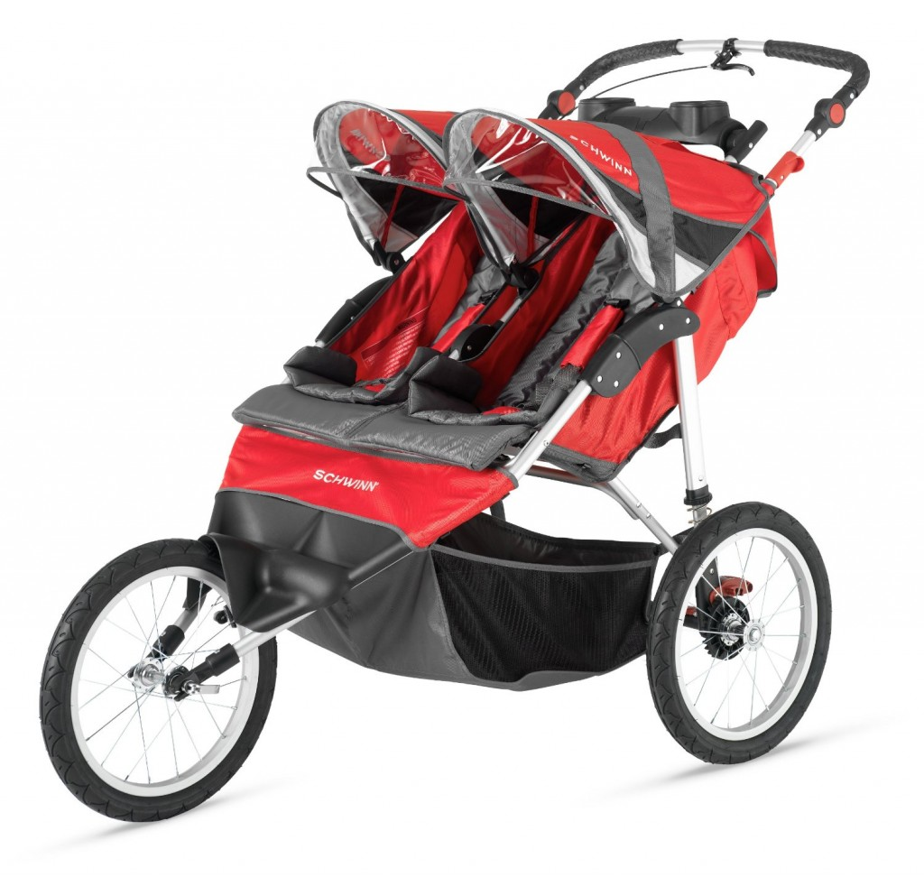 InStep Arrow Fixed Wheel Double Jogger - THE 5 EASIEST DOUBLE STROLLERS TO PUSH AND STEER WITH ONE HAND 2016