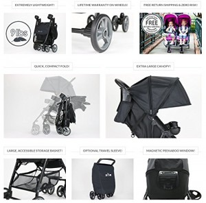 ZOE XL1 BEST Xtra Lightweight Travel & Everyday best Umbrella Stroller System - best lightweight stroller