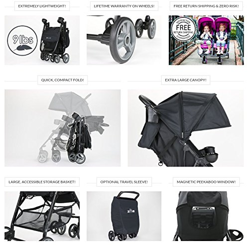 ZOE XL1 BEST Xtra Lightweight Travel & Everyday best Umbrella Stroller System - best lightweight stroller