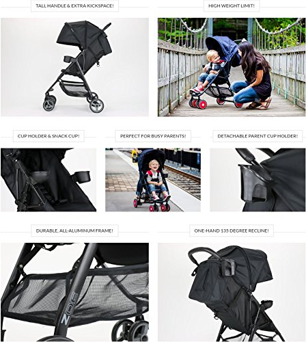 ZOE XL1 BEST Xtra Lightweight Travel & Everyday best Umbrella Strollers System - best lightweight stroller