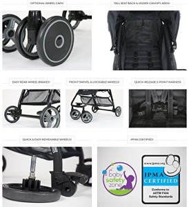 ZOE XL1 BEST Xtra Lightweight TravelSystem & Everyday best Umbrella Strollers System - best lightweight stroller