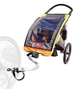 Allen Sports JTX-1 Trailer - Swivel Wheel Jogger - best jogging stroller