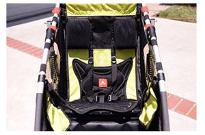Allen Sports JTX-1 Trailer -Swivel Wheel Jogger - best jogging stroller with big storage