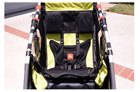 Allen Sports JTX-1 Trailer -Swivel Wheel Jogger - best jogging stroller with big storage