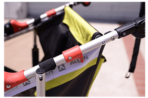 Allen Sports JTX-1 Trailer -Swivel Wheel Jogger - best jogging stroller with handle safety tall parents