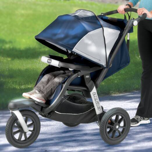 Chicco Activ3 Jogging Stroller - best single jogging stroller , wheels quality