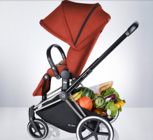 Cybex PRIAM Stroller Review - big stograge for shopping