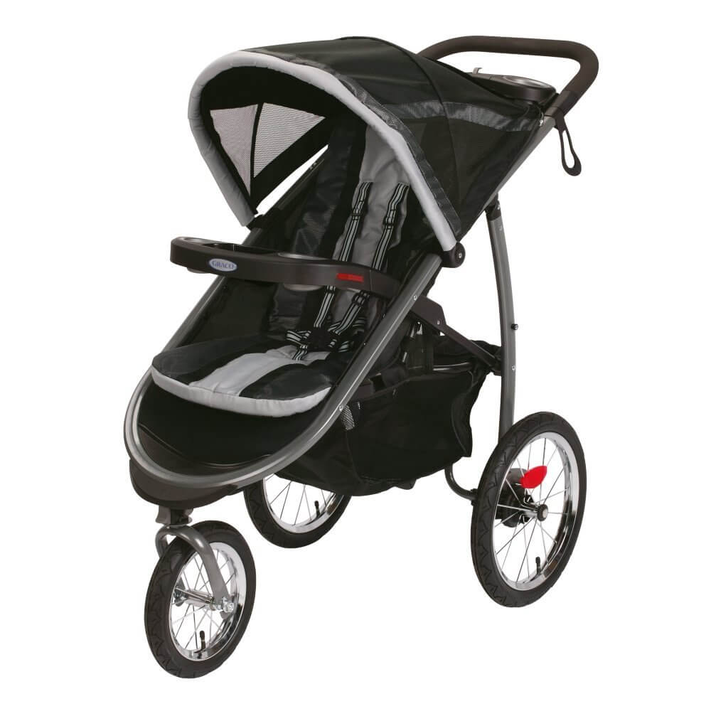 Graco FastAction Fold Jogger Click Connect Stroller - best jogging stroller