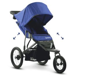 JOOVY Zoom 360 Ultralight Jogging Stroller - best jogging stroller