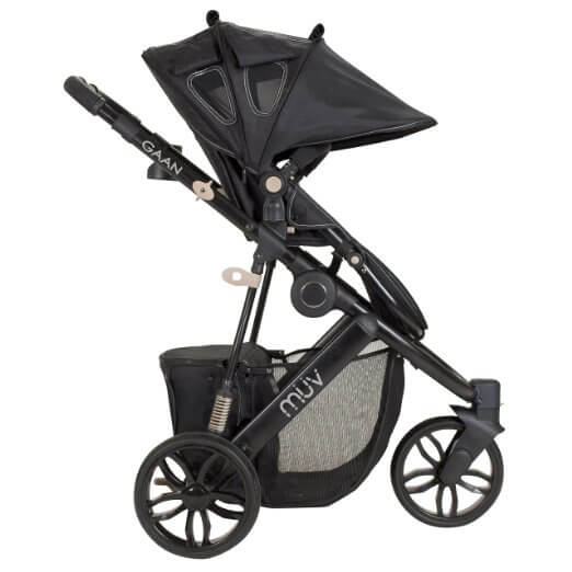 Muv Reis Stroller Review - peek a boo window from front and back of stroller canopy