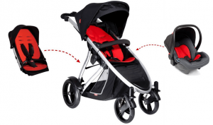Phil & Teds Verve Stroller Review - double seat stroller and car seat for travel system