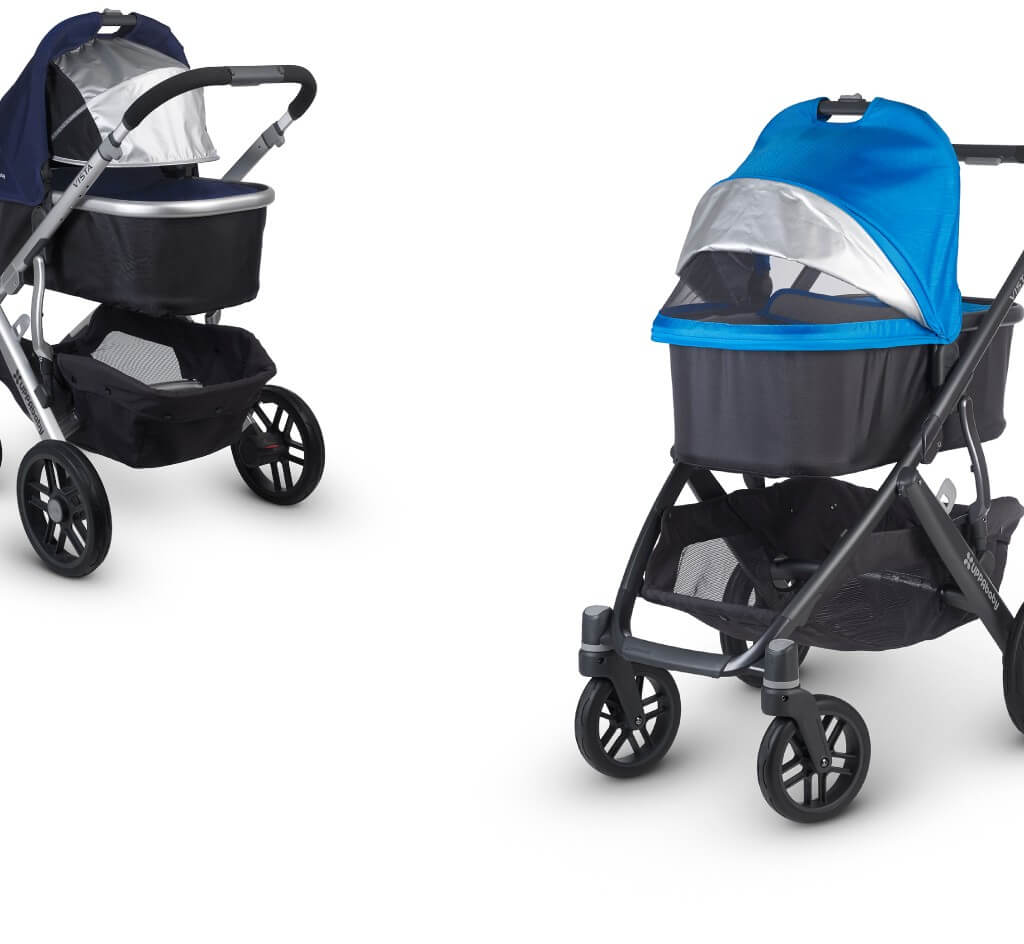 UPPAbaby Vista 2015 stroller Review - vantilated canopy and overnight sleeping stroller for baby