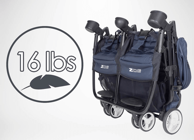 Zoe XL2 Xtra Review Lightweight Best double stroller (Designer) - 16 LBS lightweight stroller