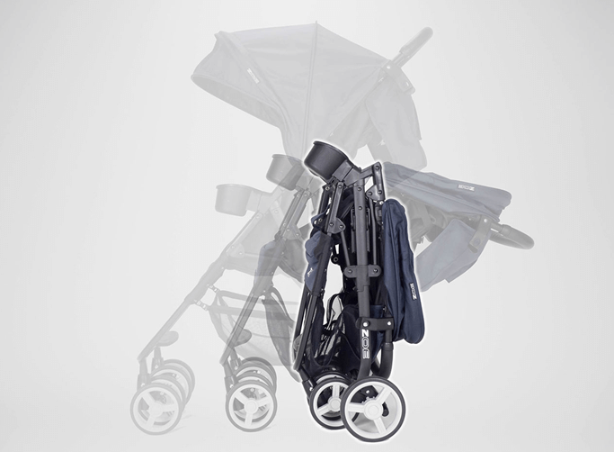 Zoe XL2 Xtra Review Lightweight Best double stroller (Designer) - Compact stroller one hand fold