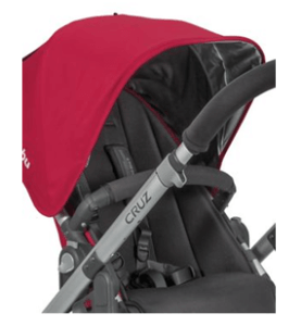 2015 UPPAbaby Cruz Stroller Review - Safety handle to stable the baby on seat