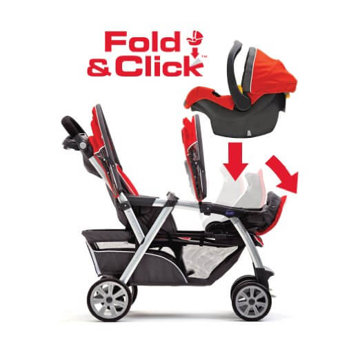 Chicco Cortina Together Best double stroller Review - fold and click