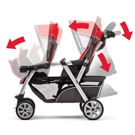 Chicco Cortina Together Best double stroller Review - multi recline position