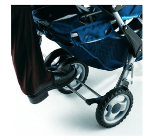 Foundations LX3 Passenger Stroller Review - Rear Wheel Leg Break