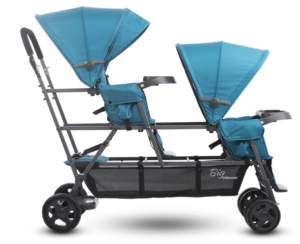 JOOVY Big Caboose Graphite Stand On Triple Stroller Review - Big Storage Box With Big Canopy