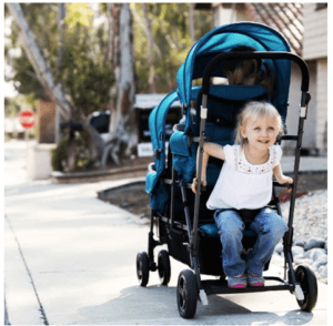 JOOVY Big Caboose Graphite Stand On Triple Stroller Review - Sit n Stand Stroller With huge Space