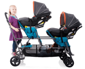 JOOVY Big Caboose Graphite Stand On Triple Stroller Review - Tiple Stroller For Twins And One old Baby