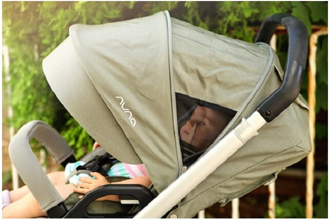 Nuna Mixx Stroller Review - big canopy to protect from sun rays , rain and snow