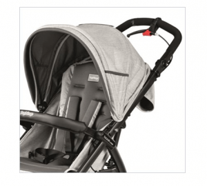 Peg Perego Book Cross Stroller Review - handle break for quick reaction