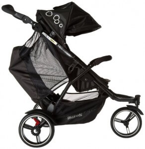 Phil & Teds Dot Inline Stroller with Second Seat - side view stroller