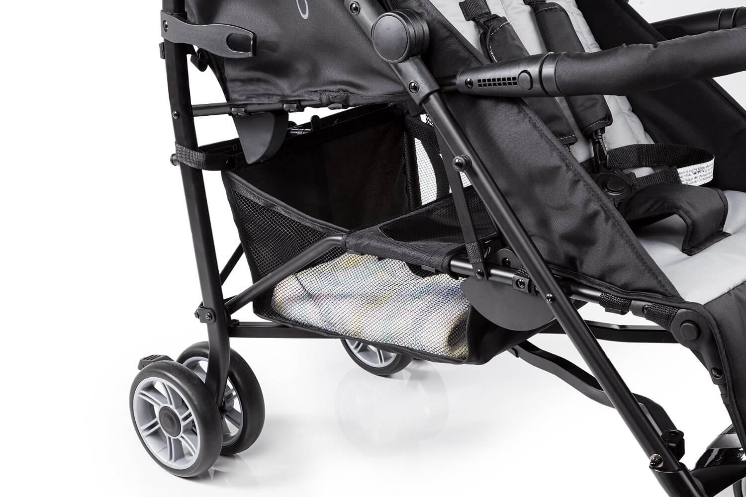Summer Infant 3D Two Double Convenience Stroller Review - big storage space for shopping , grocery and baby items