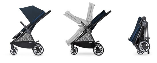 Cybex Balios M All-Terrain Stroller Review - compact stroller with one hand fold
